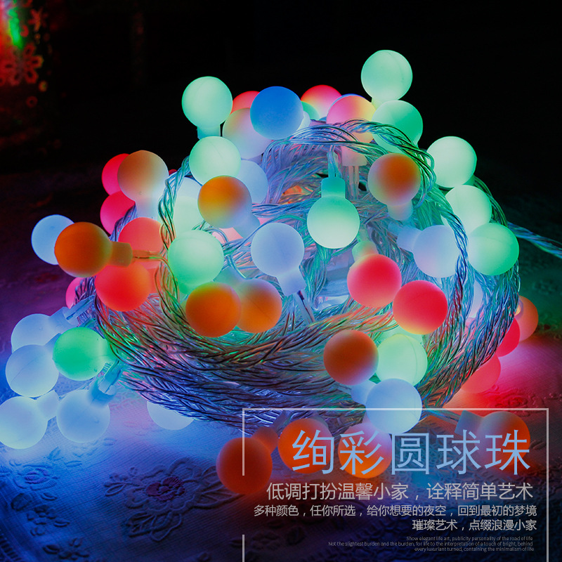 Shine Led lights string 110v / 220v Christmas tree decorative lights copper ball 10 meters garlands decoration Light Bulb(China (Mainland))