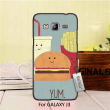 Amazing new arrival Black phone case For ALAXY J3 case  Fast Food Hamburger fries coke
