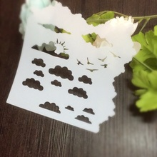 Cloud Sun Seagulls Scrapbooking tool card DIY album masking spray painted template drawing stencils laser cut template AP7072301(China)