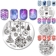 BORN PRETTY Festival Series Nail Stamping Plate Christmas Halloween Valentine Celebration Round Rectangle Nail Image Template(China)