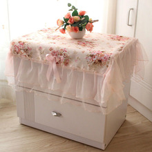 Pastoral Cloth Dust Cover Bedside Cabinet Bedside Cabinet Sets Rectangular Table Cover Lace Tablecloth for Wedding