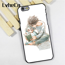 LvheCn phone case cover fit for iPhone 4 4s 5 5s 5c SE 6 6s 7 8 plus X ipod touch 4 5 6 Death Note L Near Mello Anime Manga(China)