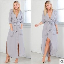 Women dress Loose Full Sleeve Ebay Critical Edition Dresses Gray Black Army Green 7131