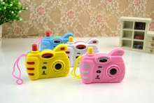 Male girl children toys simulation camera variable image look small animal pupils present small prize gift