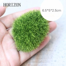 1pcs New Garden Decoration Artificial Mini Green Moss Stone Home Ornaments Simulation Moss Stone Styling Desktop Decoration