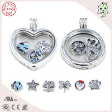 Buy New Collection High 925 Sterling Silver Round Locket Storage Charm Fitting European Famous Brand Silver Necklace for $7.73 in AliExpress store