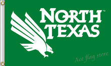 NCAA North Texas Flag of United States flag 3x5 FT150X90CM banner 100D polyester flag brass metal holes