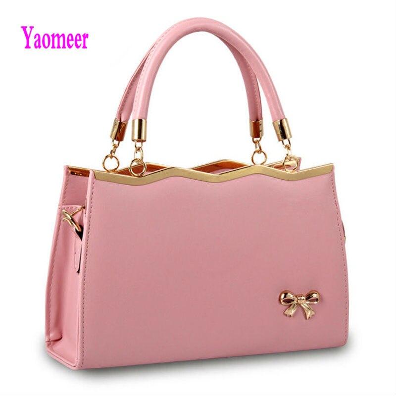 Famous Design Women Shoulder Bag Bow Handbag High Quality Pu Leather Soft Crossbody Messenger Bags White Zipper Clutch Sac a85<br>