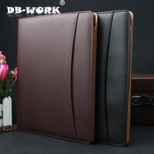 2017 Business office manager of leather multi-function folder high-grade leather A4 sales folders can be customized LOGO