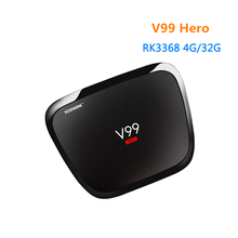 [WeChip] V99 H-E-R-O Android 5.1 TV Box RK3368 4GB 32GB Set Top Box Full Hd Media Player 1000M LAN/BT4.0 V99 HERO TV Box
