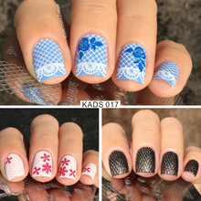 KADS New Fashion Gorgeous Lace&Flowers Design Nail Print Stamp Plates Nail Art Template Beauty Manicure Stencil DIY Polish Tool(China)