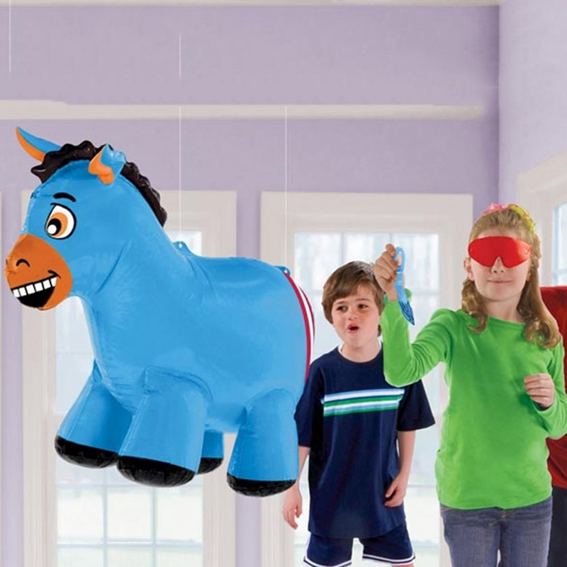 Pin The Tail On Donkey Game Inflatable Party Decoration Blow up Inflatable Donkey Toy for Kids Birthday Party Supply(China)