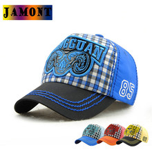 JAMONT Kids Baseball Caps Lattice Patched Classic Girls Boys Outdoor Fashion Children Cotton Snapback Caps Visor Hats Adjustable(China)