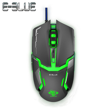 E-3LUE EMS618 Gaming Mouse Avgo 5059 4000DPI 1000Hz Rates Of Return Cool LED Light Bottom Button Is Adjustable For smoothly Game(China)