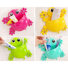 New Animal Toothbrush Storage Bags Bathroom Kitchen Family Storage Bag Suction Cups Holder Wall Stand Cups Storage