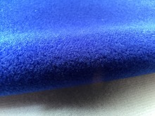 Dark Blue Fleece Fabric for DIY sewing Stuffed toys sofa material Warp knitted brushed tricot Plain Loop velboa velvet(China)
