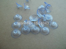2cm Transparent plastic sucker coffee table glass gasket toy gift suction cup Mushroom head sucker diameter