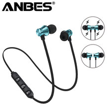 Buy ANBES Magnetic Wireless Bluetooth Earphone XT 11 Bass Stereo Headset Sport Running In-ear Sweatproof Headphone Mic Earpiece for $3.59 in AliExpress store