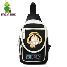 Women Men Casual Sling Bags Anime One Piece Luffy Law Chopper Chest Pack Crossbody Messenger Bag Mini Travel Shoulder Bags(China)