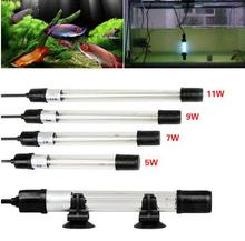 New Arrival UV Sterilizer Lamp Light Ultraviolet Filter Waterproof Water Cleaner For Aquarium Pond Coral Fish Tank 5W/7W/9W/11W(China)