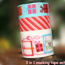 10sets Colorful Holiday Gift Washi Masking Paper Tape for party favor bag gift Candy box decor