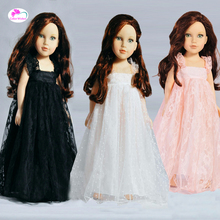 yarn Lace dress Clothes for dolls 45 cm American Girl doll Zapf baby born doll accessories(China)