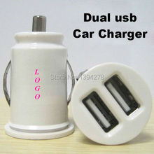 Good Quality 500pcs/lot 5V 2.1A Car Charger Power Adapter Dual USB 2-Port Mini Car Cigarette Lighter Socket Charger black white(China)