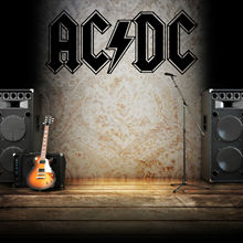G099 AC DC LOGO Vinyl wall art sticker decal music rock band Family bedroom wall stickers Art Decoration Sticker