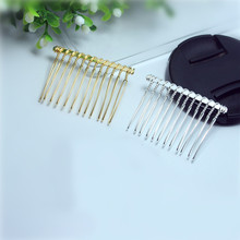 SEA MEW Fashion Style Metal Hair Combs Blank Base 12/15/20 Teeth For Women Hair Comb Wedding For Jewelry Making