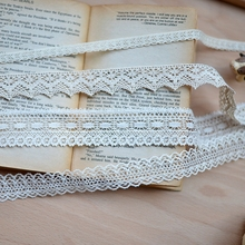 F414 Beige fine cotton lace  fabric sofa lace clothing accessories DIYClothing  Hair Accessories