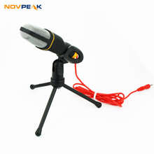 2016 New Fashionable Condenser Sound Wired Microphone with Stand Holder Clip for PC Laptop Skype Recording /Internet Singing(China)