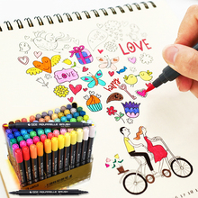 STA 12/24/36/48/80 Colors Markers Touch D Artist Soluble Colored Sketch Marker Brush Pen Set Drawing Design Paints Art Comics