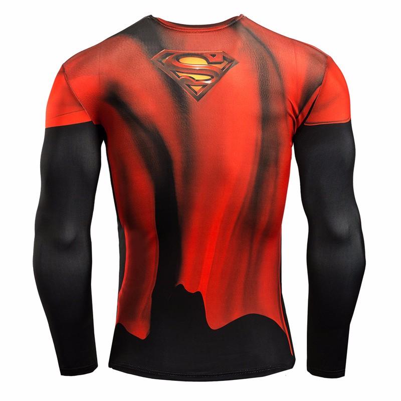 Marvel Gyms Clothing Fitness Compression Shirt Men Batman t-shirt men Long Sleeve 3D t shirt men Crossfit Tops tee shirt homme 16