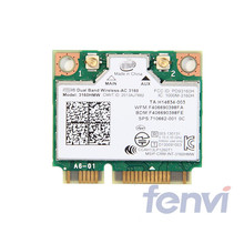 Mini PCI-e Wifi Wireless bluetooth laptop card Dual Band 2.4ghz 5Ghz For Intel 3160 3160HMW 802.11ac Wireless AC + Bluetooth 4.0(China)