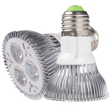 30pcs High power  Diammable Par20 Led Lamp 3x3W E27 E26 B22 AC110/220V Led Spotlight Par20 Red/Green/Blue/Warm White/White
