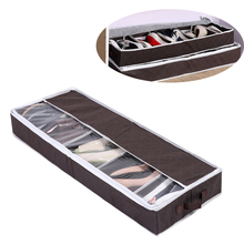 High Quality Multi-purpose Shoes Organizer Storage Shoe Case Coffee Bamboo Charcoal Five Case Transparent Shoes Storage Box(China)