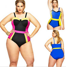 Women Underwire Bra Plus Size Swimwear Sexy One Piece Bikini High Waist Swimsuit Adjustable Bandage Monokini(China)