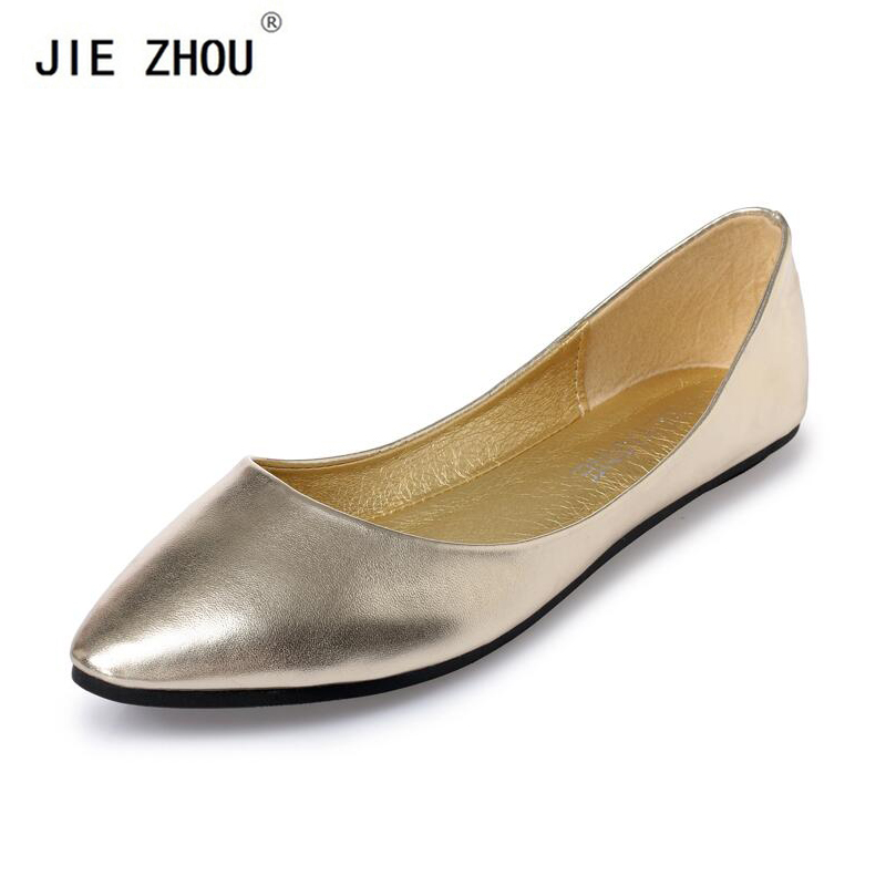 New 2018 Sring Summer Casual Shoes Women Flats Pointed Toe Women's Shoes Moccasins Ballet Flats Flat Shoes Ballerina Loafers(China)
