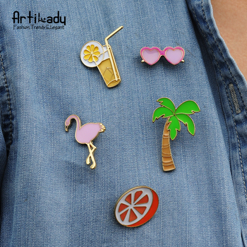 Artilady women's collar brooch pins coconut tree badge set brooches for women jewelry
