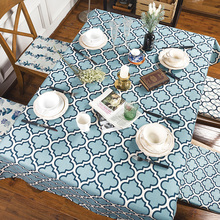 Buy Green plants / check cotton linen tablecloth Dinning Table Tea Tables Table cloth for $22.99 in AliExpress store