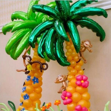 Hot new 36 inch coconut tree leaf Foil balloons Birthday Party Wedding Room Decor Palm leaf Aluminum globos Opening Ceremony(China)