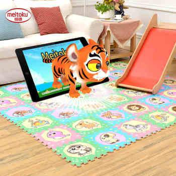 Meitoku ar inteligente rompecabezas del juego del bebé estera del juego, los niños protección de enclavamiento baldosas, alfombras y alfombras, utilizado by phone each30 * 30 cm