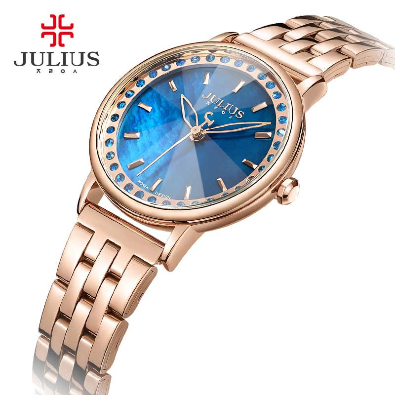 New Fashion watch women Julius Brand Women Fashion Casual Clock  Rhinestone quartz watch relogio feminino watch reloj mujer<br>