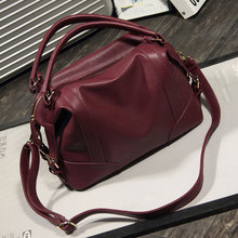 Women Casual Leather Bag  Soft Leather Handbags Big Zipper Ladies Shoulder Bag Girl Hobos Bags 2016 Herald Fashion