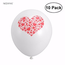 10pcs Round Latex Balloons Love Heart Printed Balloon Latex Balloon For Party Decoration Magic Ballon(China)