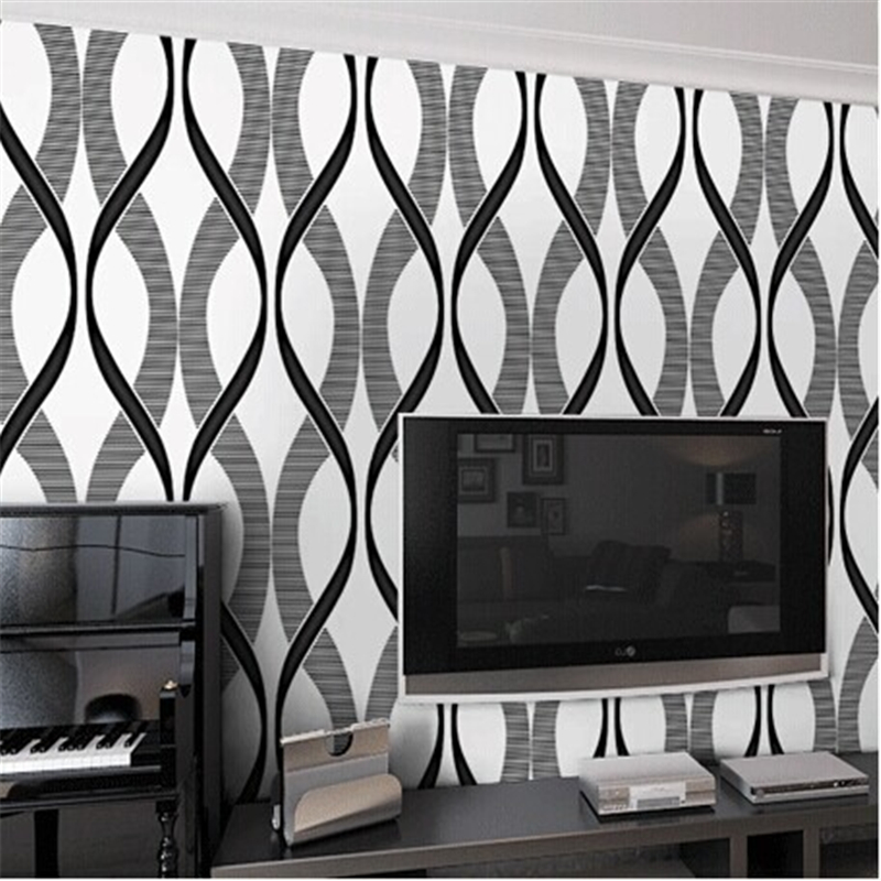 beibehang of wall paper. 3D Modern Simple Non-Woven Wallpaper Stripe Wall Paper Roll for Living Room Bedroom Background 5<br>