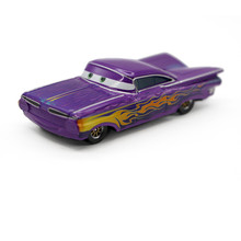 Pixar Cars Purple Hydraulic Ramone Diecast Metal McQueen Toy Car 1:55 Loose Disney Cartoon Movie Retro Alloy Car Toy For Kid