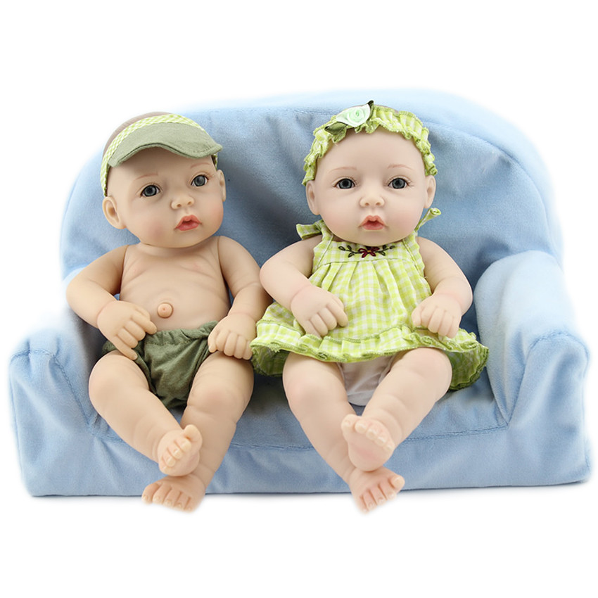 Children Educational Simulation Mini Doll 11inch Reborn Babies Dolls Full Body Silicone Vinyl Safely Kids Toys Juguetes Bebe<br><br>Aliexpress
