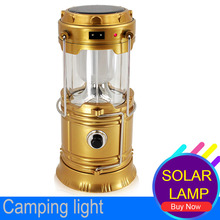 Luminaire Led Exterieur 6LEDs Solar Led Collapsible Flashlights Portable Solar Lamp Lantern Hanging Lamp camping led recargable