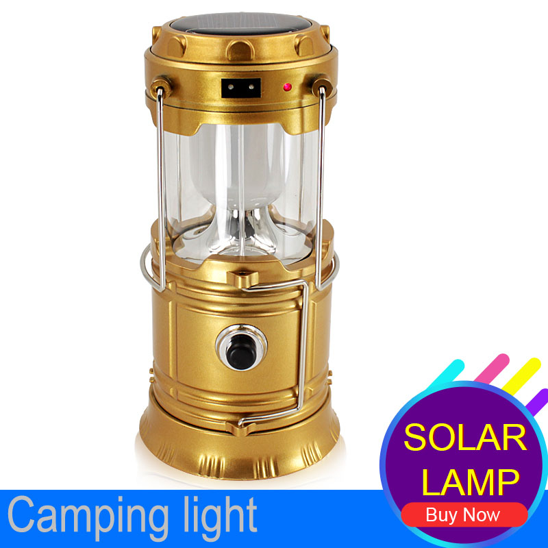 Luminaire Led Exterieur 6LEDs Solar Led Collapsible Flashlights Portable Solar Lamp Lantern Hanging Lamp camping led recargable<br><br>Aliexpress